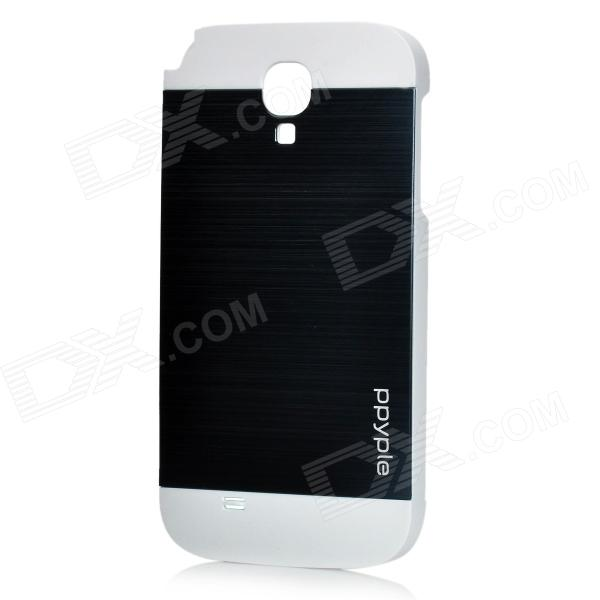 ppyple Protective Aluminum Alloy + PC Back Case for Samsung i9500 - White + Black