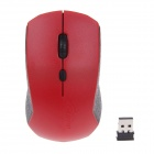 CARPO V7 2,4-GHz-USB-2.0-800/1200/1600dpi Wireless Optical Mouse - Red (2 x AAA)