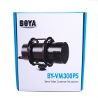 BOYA BY-VM300PS Stereo Video Condenser Microphone - Black
