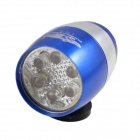 FLY WOLFS New L767B 6 x Epistar LED 2-Mode 290lm White Light Bike Light - Blue (2 x CR2032)
