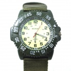 WEIPENG Men's Sports Outdoor Cloth Belt Analog Quartz Wrist Watch - Camouflage Green