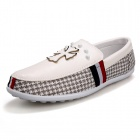 SNJ Croix Casual Motif PU Chaussures - gris + blanc (Taille 42 / paire)