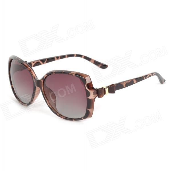 OREKA 2011 Women's UV400 Protection PC Frame PC Lens Polarized Sunglasses - Brown retro women sunglasses polarized driving sun glasses with pc metal hinge shades uv400 protection gafas de sol mujer 4 colors