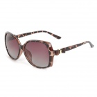 OREKA 2011 Women's UV400 Protection PC Frame PC Lens Polarized Sunglasses - Brown
