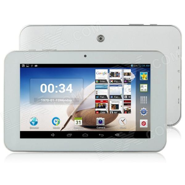 "Ampe A76 7"" Android 4.2 Dual Core Tablet PC w/ 512MB RAM, 8GB ROM, TF, Dual Camera - White"