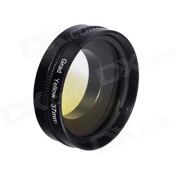 HighPro 37mm Graduated Gradual Yellow color filter Lens w/ Flip Converter for GoPro Hero 3 / 3+