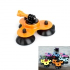 BZ BZC 3-Suction Cup Aluminum Alloy Car Adapter Holder for GoPro Hero 2 / 3 / 3+ / SJ4000 - Orange