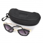 Oulaiou 28 Children's UV400 Protection Zinc Alloy Frame Resin Lens Sunglasses - Black + Grey