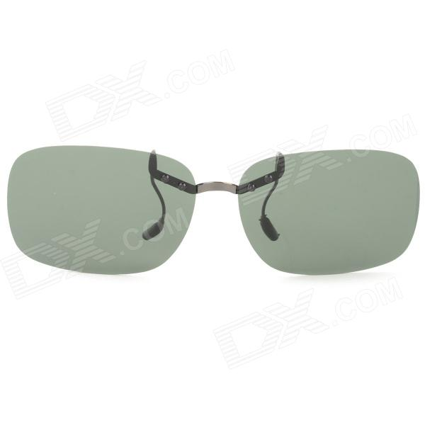 OREKA 811 Clip-on Polaroid Polarized Sports Sunglasses - Dark Green