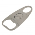 Portable Triangle Style Steel Cigar Cutter Knife - Silver