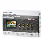 "890 + 706DX4 7 ""TFT LCD Wireless 4-CH DVR Monitor + 4-0.3MP CMOS Kamera Security System w / 24-IR LED"