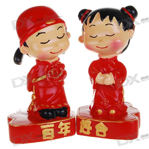 Wedding Gifts For Chinese Couples : Valentines Day GiftResin Chinese Style Wedding CoupleFree ...