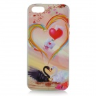 Heart Pattern Protective TPU Back Case for IPHONE 5 / 5S - White + Red