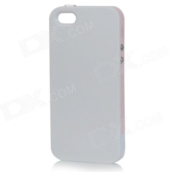 PPYPLE ACi5+ Protective TPE + PU Back Case for IPHONE 5 / 5S - White + Pink