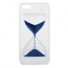 3D Hourglass Style Plastic Back Case for IPHONE 5 / 5S - Blue + Transparent