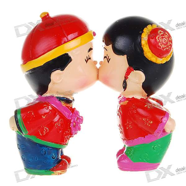 Valentine's Day Gift - Resin Chinese Style Cute Kissing Couple