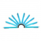 Touch Screen Stylus Pen w/ Clip for IPHONE / IPAD / Samsung + More - Light Blue (10 PCS)