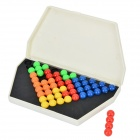 Children's Intelligence Pyramid Baubles Spelling Tray Puzzle Toy - Yellow + Red
