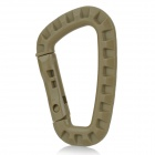 Outdoor Sports Mountaineering PVC Carabiner Clip - Brown