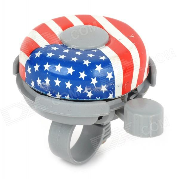 American Flag Pattern Cycling Bike Bicycle Aluminum Alloy Ring Bell - Multi-colored