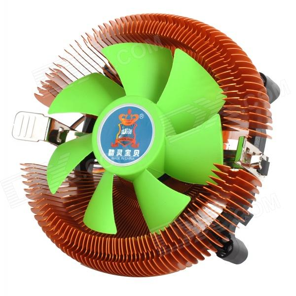 Replacement CPU Fan Cooler w/ Heatsink for AMD / Intel LGA775 / Intel LGA1156 - Brown + Green помады still still still577 avant garde помада 577 питательная orient воображаемая любовь 4 г