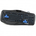 Soloda K-80 ABS USB 2.0 Kabel 104-Key Gaming Keyboard - Schwarz + Blau (Kabel-170cm)