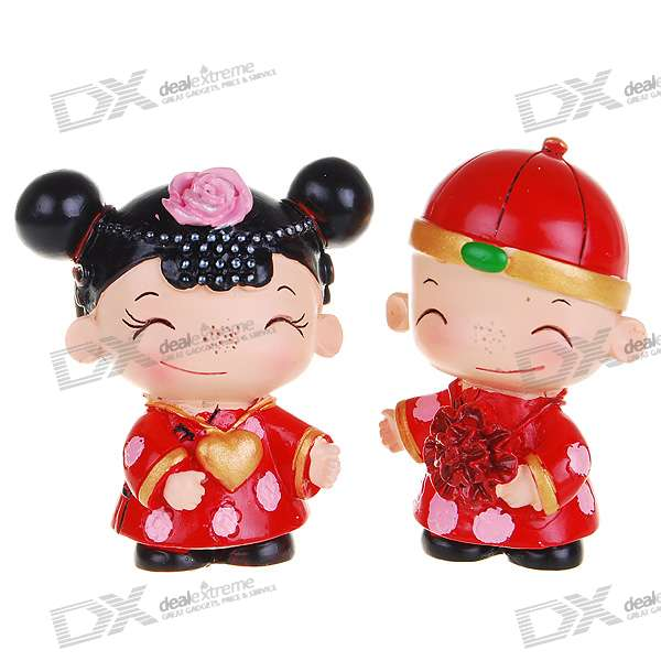 Valentine's Day Gift - Resin Chinese Style Cute Wedding Couple