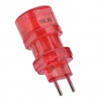 NEJE Universal Travel Conversion Power Plug Adapter - Red (UK / US / EU / AU)