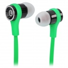 Fashion 3.5mm Plug In-Ear Earphone - Grass Green + Black