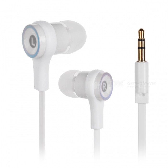 Fashion 3.5mm Plug In-Ear Earphone - White + Black