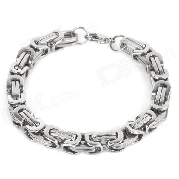 SHIYING SL0018 Men's Stylish 316L Stainless Steel Chain Bracelet - Silver fashion 316l stainless steel bracelet for man h023