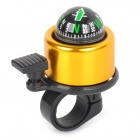 Bike Bicycle Cycling Aluminum Alloy Ring Bell w/ Compass - Black + Golden