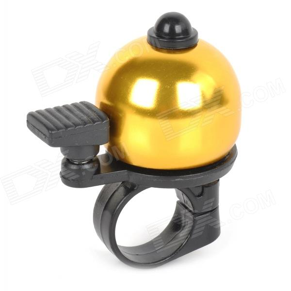 Ball Shaped Cycling Bike Bicycle Aluminum Alloy Ring Bell - Golden