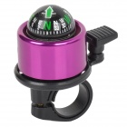Bike Bicycle Cycling Aluminum Alloy Ring Bell w/ Compass - Black + Purple