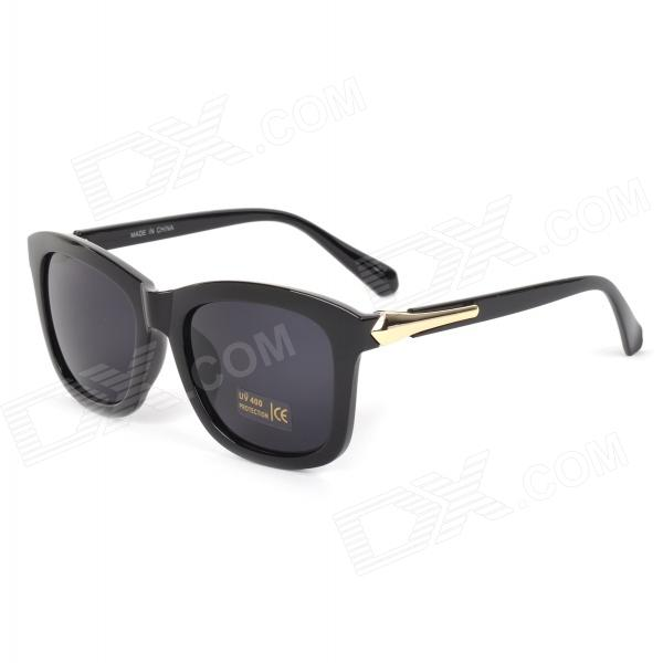 Oulaiou 167-A  Women's Retro Arrows Style UV400 Protection PC Frame Resin Lens Sunglasses - Black