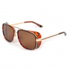 OREKA M3023 Universal Retro Punk Style UV400 Protection PC Frame PC Lens Sunglasses - Golden