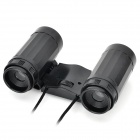 Plastic 2.5X Magnification Binocular Telescope Toy - Black