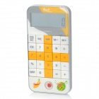 cd-4 Portable ABS 10-Digit Calculator - White + Yellow (3 x CR2032)