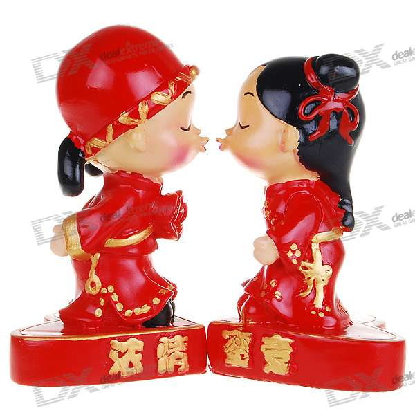 Valentine's Day Gift - Resin Chinese Style Cute Kissing Wedding Couple