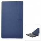Detachable Bluetooth V3.0 59-Key Keyboard w/ Flip-Open Case for 7'' Tablet PC - Dark Blue