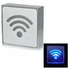 Aluminum Alloy LED Blue Light Wi-Fi Indicating Sign - Silver