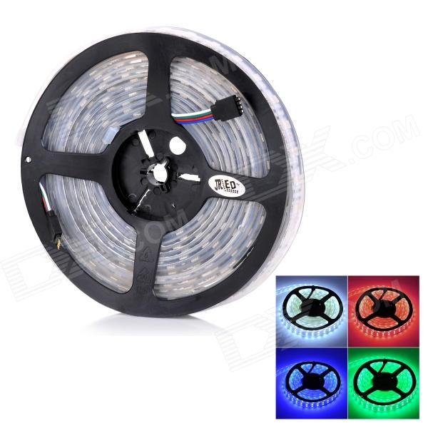 JRLED Waterproof 144W 8000lm 600-5050 SMD LED RGB Light Strip - White + Black (5m / DC 12V)