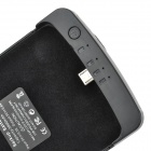 ZAP Aluminum Alloy + Plastic 5V 3800mAh Li-ion Polymer Back Case Battery w/ Stand for Google Nexus 5
