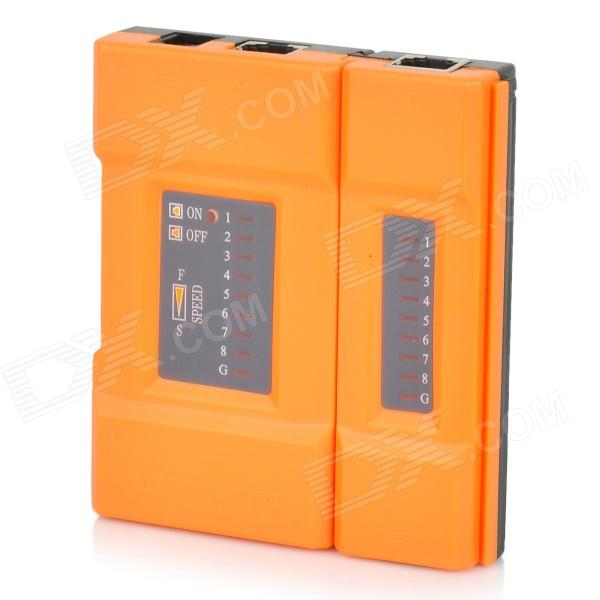 NSHL-468VR Plastic Cable Tester w/ RJ45 / RJ11 - Black + Orange