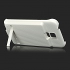 5V 3400mAh Li-polymer ABS Back Case Battery w/ Stand for Samsung S5 - White