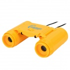 Plastic 2.5X Magnification Binocular Telescope Toy - Yellow