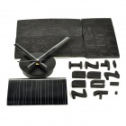 DIY English Number Style Assembling EVA Wall Clock - Black (1 x AA)