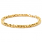 SHIYING SL00050 Men's 316L Stainless Steel Chain Bracelet - Golden (21cm)