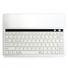 KB651 Universal 82-key Bluetooth Aluminum Alloy Keyboard w/ Built-in Tablet PC Stand - White Silver