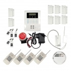 "ARM-10B 2.4"" LCD Home Security Wireless Quad-band GSM Anti-theft Electronic Alarm - White"